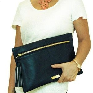HOLLY SCOTT Stella navy clutch